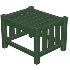 Green Poly-Wood Mission Ottoman by POLY~WOOD, Inc.. $299.99. Solid, heavy-duty construction withstands nature's elements. Poly-Wood lumber requires no painting, staining, waterproofing, or similar maintenance. Poly-Wood lumber does not splinter, crack, chip, peel or rot and it is resistant to. Eco-friendly product with over 90% recycled materials. Constructed of durable HDPE Poly-Wood lumber that provides the look of painted wood without the. mfr: POLY~WOOD, Inc. This styli...