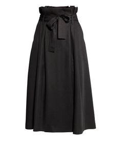 Lyocell skirt | Black | Ladies | H&M AE