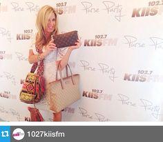 "Ellen K wearing ""Medellin"" Mochila Bag Addixion at the ""Ryan Seacrest's Purse Party"" event in LA"