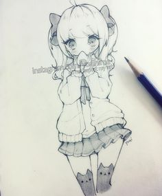 Hiya~ I hope you all had a great weekend and start to the week! >V< some may have noticed...I stopped using mechanical pencils xD I find regular pencil lines to be more dynamic and it's easier to adjust the density of the lines. also using a tissue to gently smooth shading will erase the sketchy lines but maintain the tone/darkness if you prefer smooth shading over lines/crosshatching :3 - - - - - #anime #animegirl #animedrawing #animeart #manga #mangagirl #mangaart #mangadrawing #sketch…