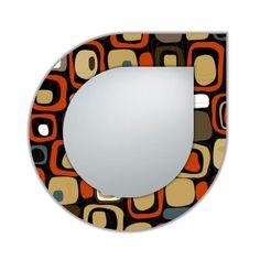 Espejo moderno con marco y luna de metacrilato. Disponible en varios diámetros, y en otras formas y colores por encargo.