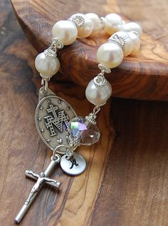 Gift For Goddaughter. Personalized Gift.Miraculous Medal and Crucifix. Catholic Rosary Handmade.  Pocket Rosary.  Gifts for Grandparents.