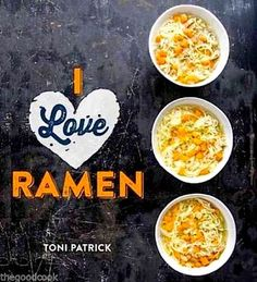 I Love Ramen  75 Ways To Turn A Block of Great Noodles Into a Delicious Dish ~ If necessity is the mother of invention, a college student's food budget certainly led to the invention of some delicious ways with one of the least expensive, most convenient packaged foods of all time.  Taste-tempting food photos show that the humble block of ramen noodles can be magically transformed into delicious main dishes as well as sides, soups and salads.