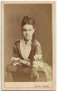 Woman with Braided Hair An 1880 CDV ... she is approximately 19 in this picture, and her fiancée was about 32.