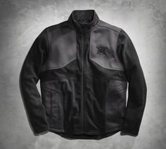 You're headed in the direction of comfort and style. | Harley-Davidson Men's Textured Fleece Activewear Jacket