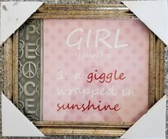 "Peace Girl   Wall Art Picture  Home decor Inspirational    11.5""x 9.5"" in"