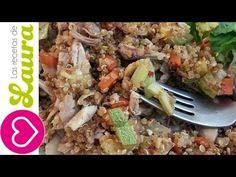 Receta de Quinoa con pollo Estilo Chino Las Recetas de Laura Recetas Saludables - YouTube