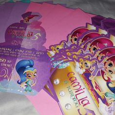 Shimmer and Shine genie invitations.