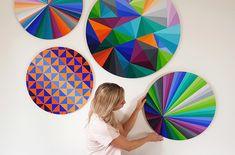 Artist's bold, geometric works capture positivity and restore balance