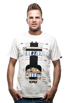 COPA Paper Toy T-shirt by Maurizio Russo (@MauRusso) for COPA. COPA retro football shirts, T-shirts and more.