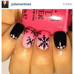 So this bottle of nail polish magically becomes pink ombre nails with black snowflakes?