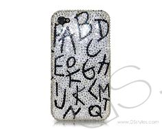 Alphabets Bling Crystal Phone Cases  http://www.dsstyles.com/iphone-5-cases/swarovski-series-alphabets-swarovski-crystal-phone-case.html