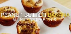 peanut-butter-banana-muffins | GF Peanut Butter Banana Muffins  Use Almond Butter instead of Peanut Butter.