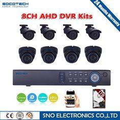 278.45$  Buy here - http://ali1h8.worldwells.pw/go.php?t=32703418507 - SOCOTECH 1080N 720P HD Outdoor Security Camera System 1080P HDMI CCTV Video Surveillance 8CH DVR Kit 1TB HDD AHD Camera Set