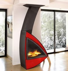 Design Wood Fireplace from Brisach - Oakland Wall Fireplace