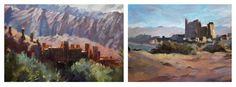 2 Moroccan studies oil on canvas by Trevor Waugh Fine art Oil painting  trevorwaugh.com