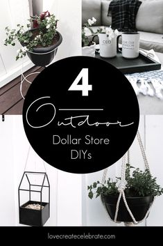 A gorgeous modern DIY Standing Planter! Make this beautiful outdoor planter for the patio, deck or front porches with just a few dollar store supplies! I love that this mid-century modern piece mimics the beautiful West Elm flower pots! #summer #dollartree #dollarstore #budgefriendly #DIY #flowerpot #planter