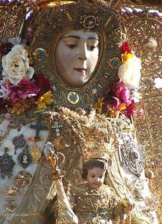 SPAIN / ANDALUSIA / Festivities - Pilgrimage to El Rocío, Huelva , Spain. ,Virgen del Rocio Almonte Huelva  Spain
