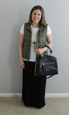 Summer Style: Pleated Maxi Skirt, Cargo Vest - The Style Files