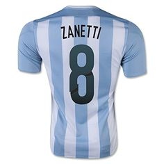adidas 2015-16 Argentina Home Shirt (Zanetti 8) OfficialÃ'Javier Zanetti football shirtÃ'for theÃ'ArgentinaÃ'national team. This is the newÃ'ArgentinaÃ'home shirt for theÃ'2015 Copa America tournament fin (Barcode EAN = 0716670132889) http://www.comparestoreprices.co.uk/december-2016-5/adidas-2015-16-argentina-home-shirt-zanetti-8-.asp