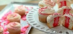 ArrangedValentineCupcakes | Here's a Quick Way to Make Beautiful Cupcakes for Valentine's Day