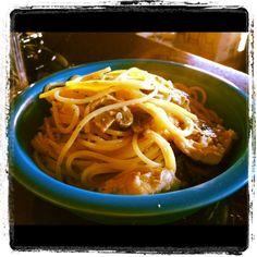 Zesty, creamy spaghetti piccata