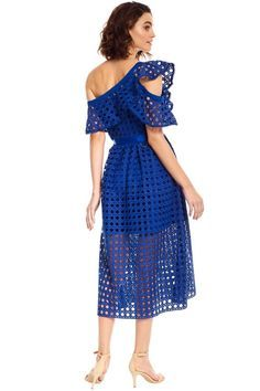 59fcb2cad62f Self Portrait - Guip | Lace Dresses | Frill dress, Dresses, Cobalt ...