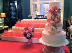 fabul famili, art tulip, ombr sugar, cake confect, citi summer, queen citi, sugar art, pink ombr, delishwed cake
