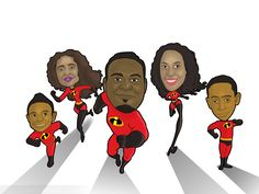 The+Incredibles+Theme+Family+Caricature