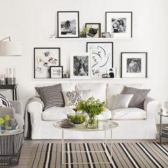Modern white living room with art display | Interior design ideas | PHOTO GALLERY | Ideal Home | Housetohome.co.uk
