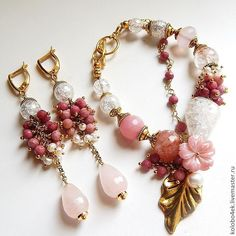 Купить Комплект РОЗОВОЕ ЛЕТО - бледно-розовый, кремовый, белый, подарок подруге