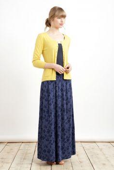 Bonfire Carn Skirt | Long maxi floral skirt in bamboo jersey