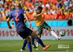 卡希爾踢出本屆世界盃目前為止最精彩的世界波。(圖/騰訊體育)