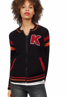 KangaROOS kardigán Der Arm, College Fashion, Jackets, Style, Branding, Knit Jacket, Breien, Cotton, Down Jackets