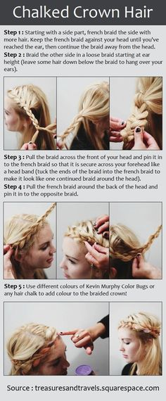 What a beautiful and summery #hairstyle! The Chalked Crown Hair Tutorial. Just follow these simple steps!
