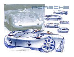 Porsche by Don Cammorata, via Behance