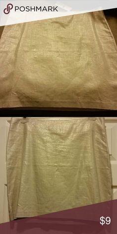 New mini skirt Golden shimmer linen/rayon New York & Company Skirts Mini