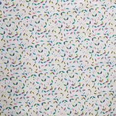 Tissu coton peacock feuilles  - Mondial Tissus