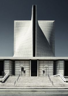 St. Mary's Cathedral in San Francisco was designed by local architects John Michael Lee, Paul A. Ryan and Angus McSweeney,collaborating with internationally known architects Pier Luigi Nervi and Pietro Belluschi in 1967.