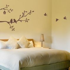 Cute Birds and Branches Decal - Vinyl Wall Decal - SM Wall Painting Decor, Tree Wall Decor, Unique Wall Decor, Metal Wall Decor, Wall Art, Paper Room Decor, Diy Room Decor, Cute Birds, Vinyl Wall Stickers