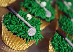 Golf Cupcake - this is too cute!