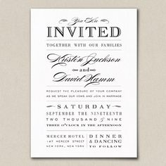 Pretty Wedding Typography Invitation    http://weddinginvitations21.com/wp-content/uploads/2012/05/verbage-for-wedding-invites-20.jpg