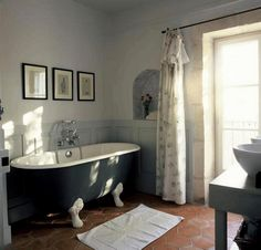 Wall Missingsisterstill Blue Grey Bathroom Decor With Claw Foot Tub