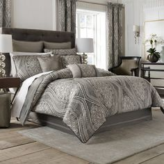 The Amadeo bedding collection by Croscill features an over scaled ...  Pretty!!!!!