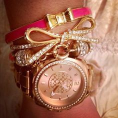 ♥ this watch! Rose gold