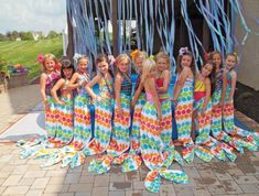 Towel Mermaid Flukes - A party favor that really makes a splash