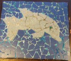 Mosaik. Delfin von Julian