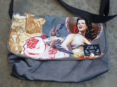 Little messenger bag  The Mexican lady by LILOsDesign on Etsy, $75.00