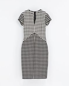 HOUNDSTOOTH CHECK DRESS - Dresses - Woman | ZARA Canada