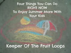 If you have kids, summer is HARD.  It's hard to keep them on the go and not lose your sanity.  Here are my four tips you can do RIGHT NOW to start enjoying summer more!